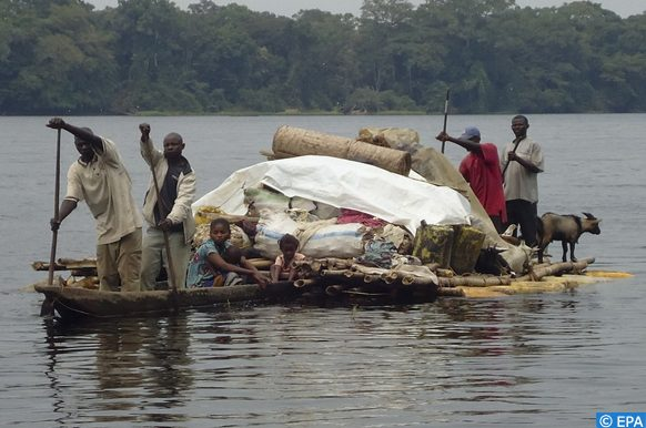 Sud-Ubangi submergée par les flots d'une rivière