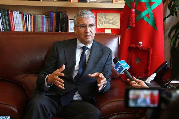 Le secrétaire général du ministère de l'Agriculture, de la pêche maritime, du développement rural et des eaux et forêts (département de l'agriculture), Mohammed Sadiki, accorde un entretien  à la MAP. 14022020_Rabat